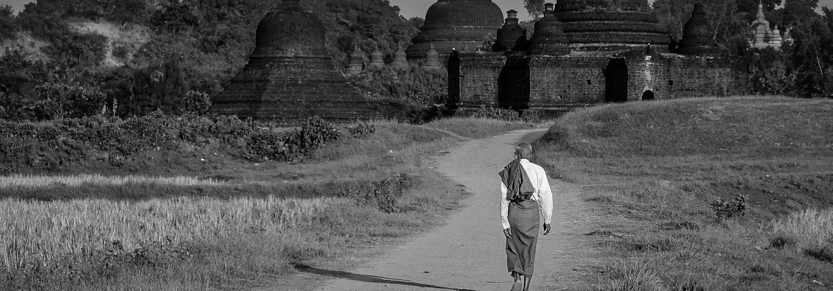 Walking the street | Man | Mrauk U | Myanmar